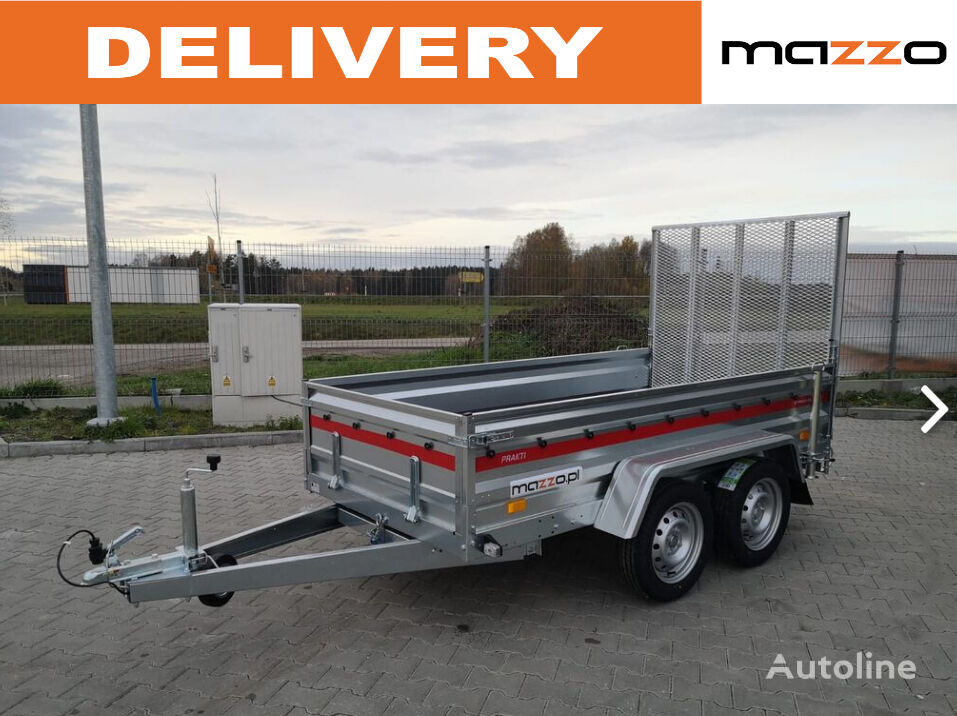 Prakti 2612/2 two-axle trailer with ramp-gate remolque de cama baja nuevo