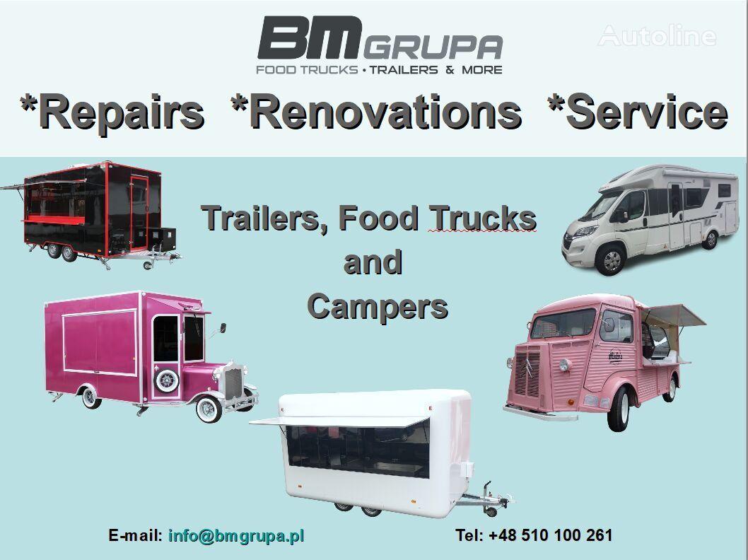 BODEX Service, Reparatur, Umbau, Renovierung, Serwis, naprawa, remont, remolque de venta