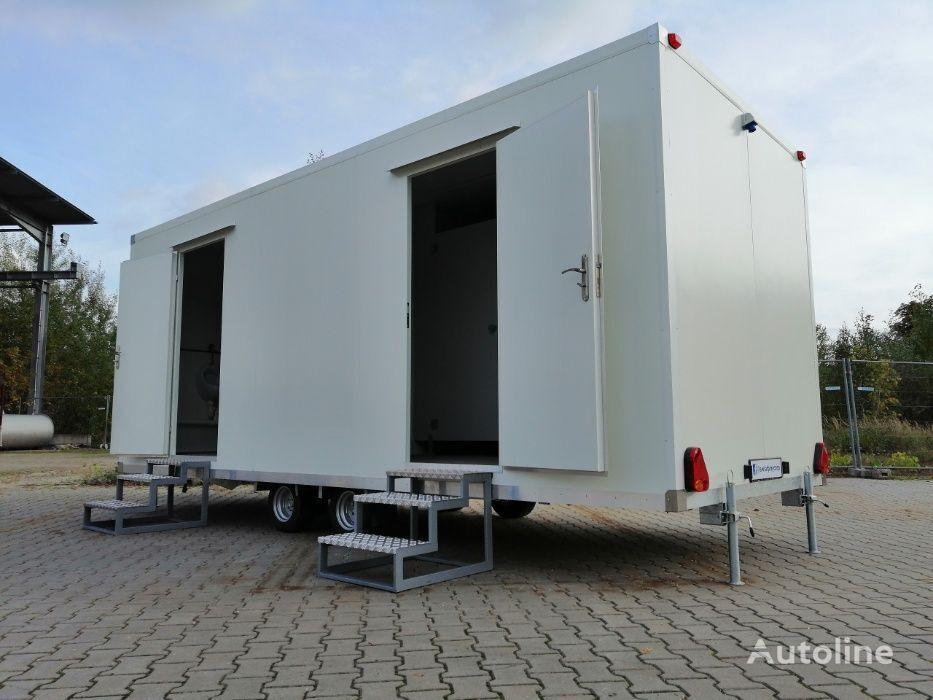 NOWA Przyczepa - kontener - socjalna / sanitarna DMC 750 kg remolque furgón nuevo