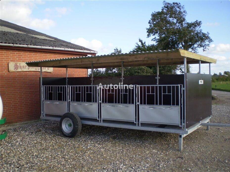 Pomi Kalvevogn Fabriksny remolque para transporte de ganado