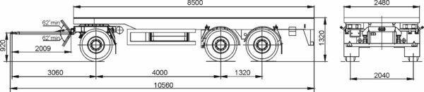 MAZ 870100-1010 remolque plataforma nuevo