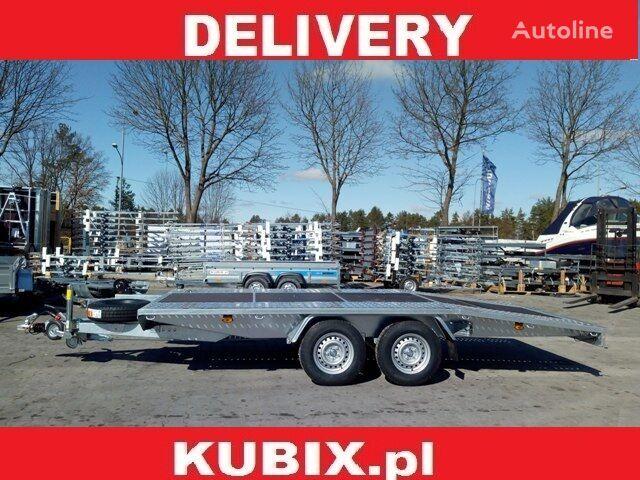 KUBIX BORO twin-axle car hauler, dovetail, 450×200, plywood inside, GV remolque portacoches nuevo
