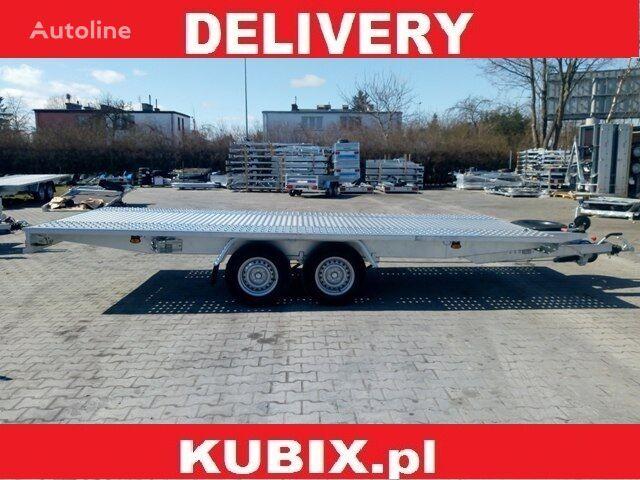 KUBIX BORO twin-axle straight car hauler, 500×210, metal sheet, low wh remolque portacoches nuevo