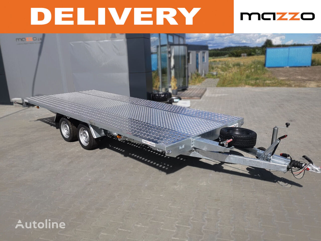 M4027 400x210cm 2700kg platform remolque portacoches nuevo