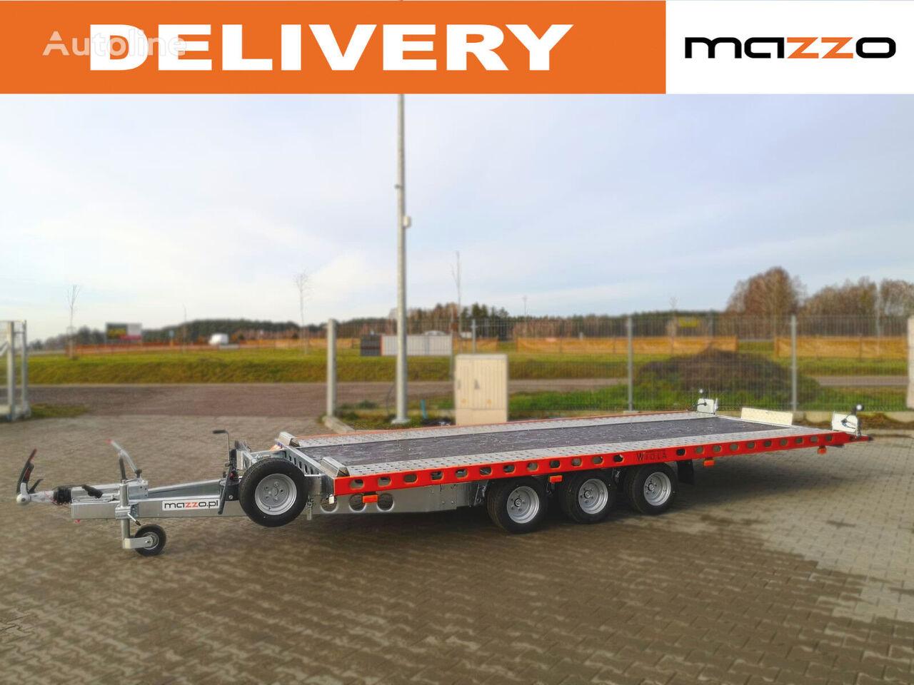 Wiola L35G50P 500x206cm three axles! Tilt / Kipper 3500kg remolque portacoches nuevo