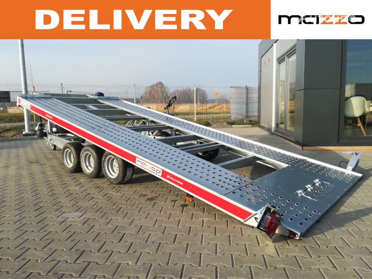 480x203cm 4820/3 3-axles Tilt trailer with hand pump! remolque portacoches nuevo