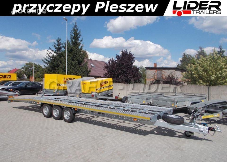 LIDER trailers LT-075 przyczepa 850x210, ciężarowa laweta alumin remolque portacoches nuevo