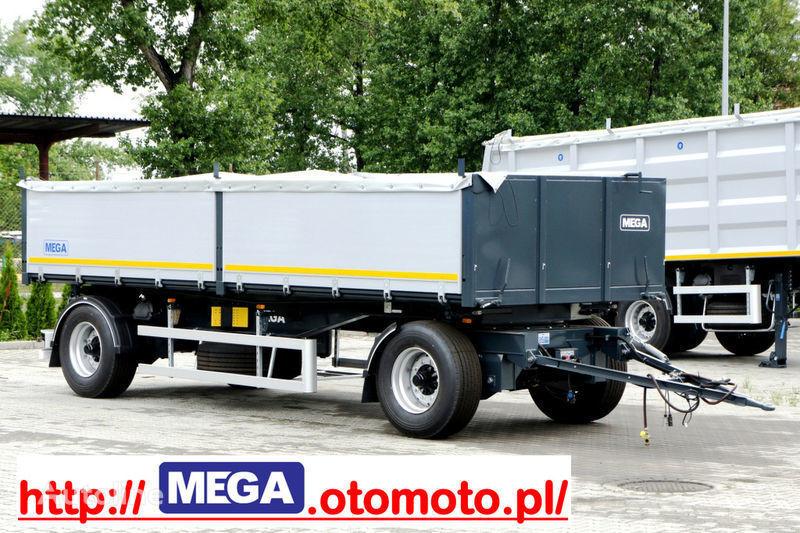 MEGA 3 x way dump / 2 axel / alu bort / grainhole remolque volquete nuevo