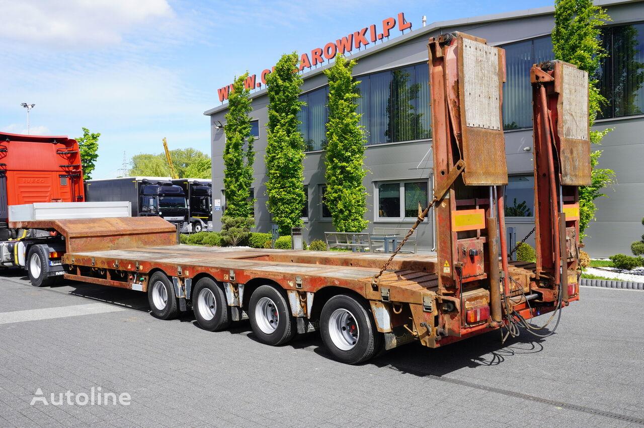 NOOTEBOOM OSD-73-04 , 4 axles , hydraulic ramps , 9,7 x 2,75 , 2 steer axl semirremolque de cama baja