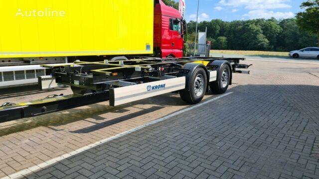 KRONE Box Carrier ZZW 18 Wechselbrücken Anhänger semirremolque de contenedores nuevo