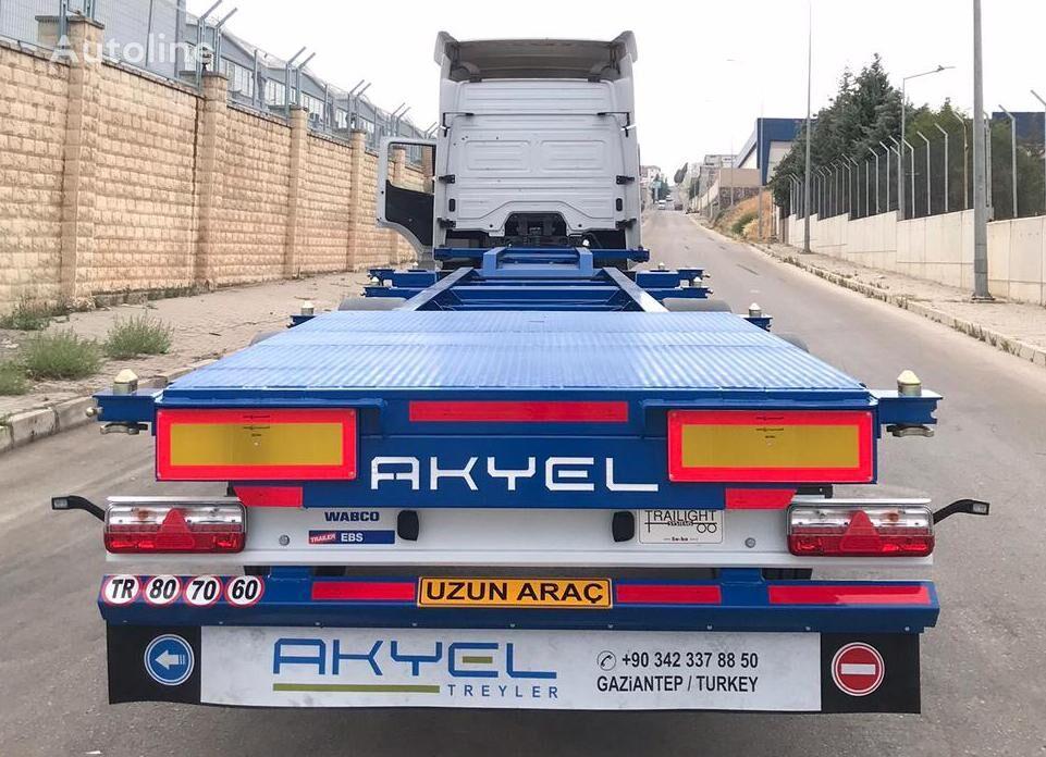 AKYEL TREYLER hc Container semi trailer  semirremolque de contenedores nuevo
