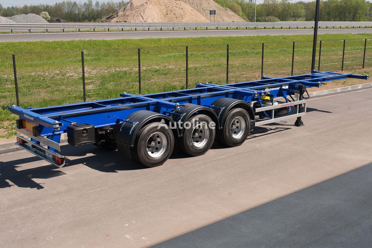 GRUNWALD Versatile heavy duty container semitrailer semirremolque de contenedores nuevo