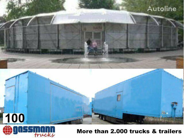 Ausstellungshalle Sehnsucht WILLE, mobile Ausstellungshal semirremolque furgón