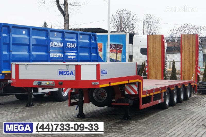MEGA 4 AXEL FLATBED / HYDRAULIC RAMPS / UP TO 45 T! semirremolque góndola rebajada nuevo