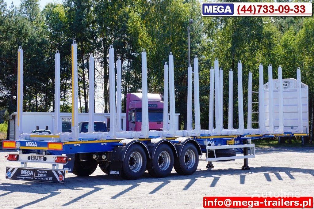 MEGA 10 U STANCHION - TIMBER SEMI-TRAILER/HOLZAUFLIEGER- READY ! BERE semirremolque maderero nuevo