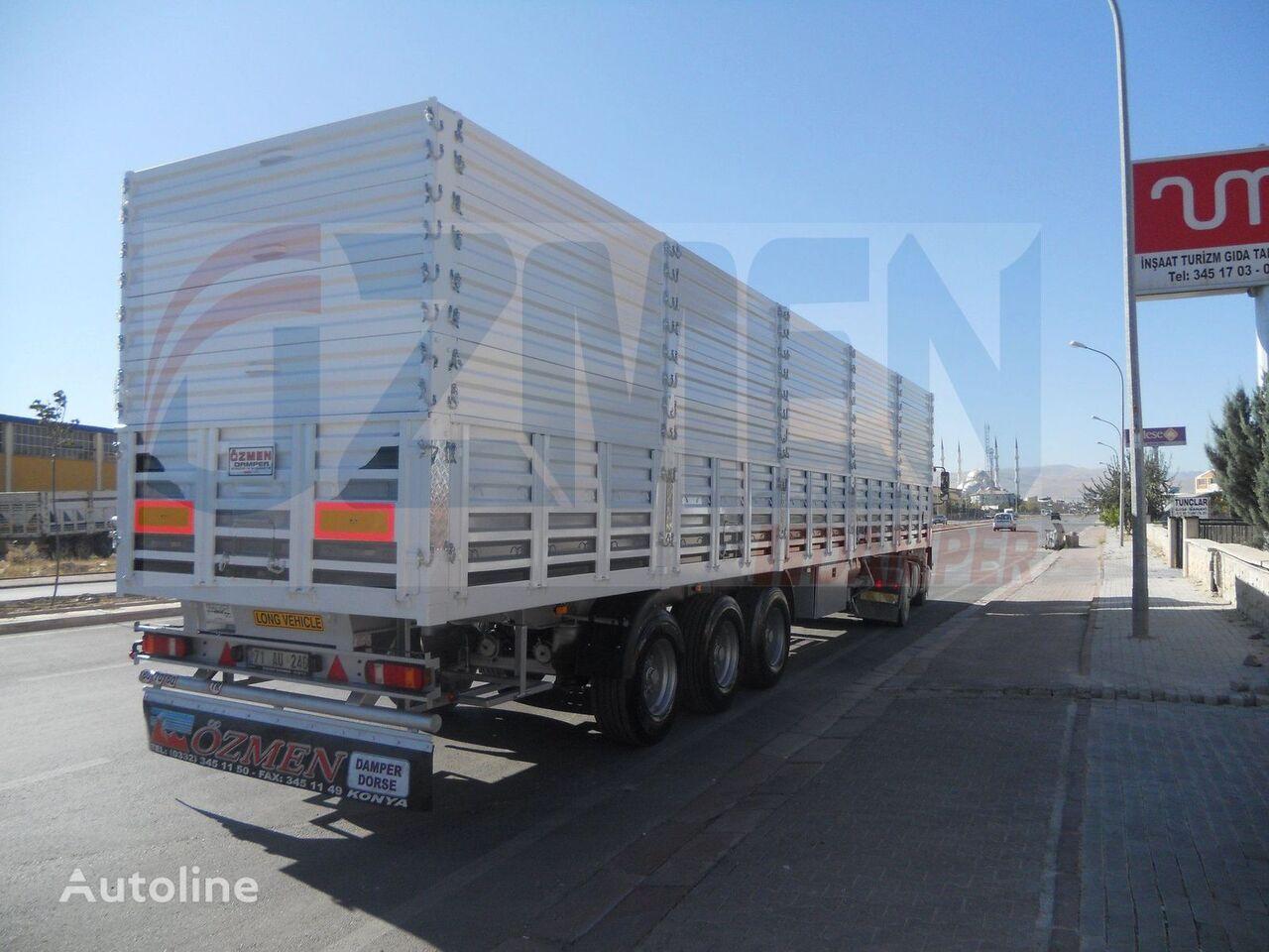 Ozmen Damper With Side Doors and Extensions semirremolque para transporte de grano nuevo