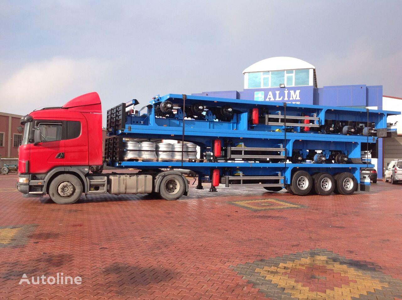 ALİM DORSE 2021 Model Flatbed Trailer for Container and Pipe Transport semirremolque plataforma nuevo