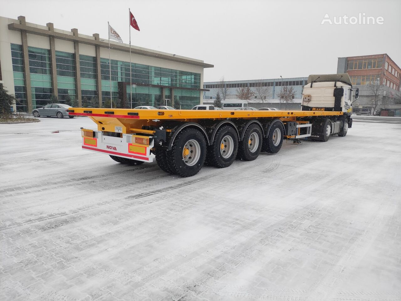 NOVA NEW FLATBED TRAILER 4 AXLE PRODUCTION semirremolque plataforma nuevo