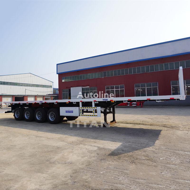 TITAN Trailers 45-100T semirremolque plataforma nuevo
