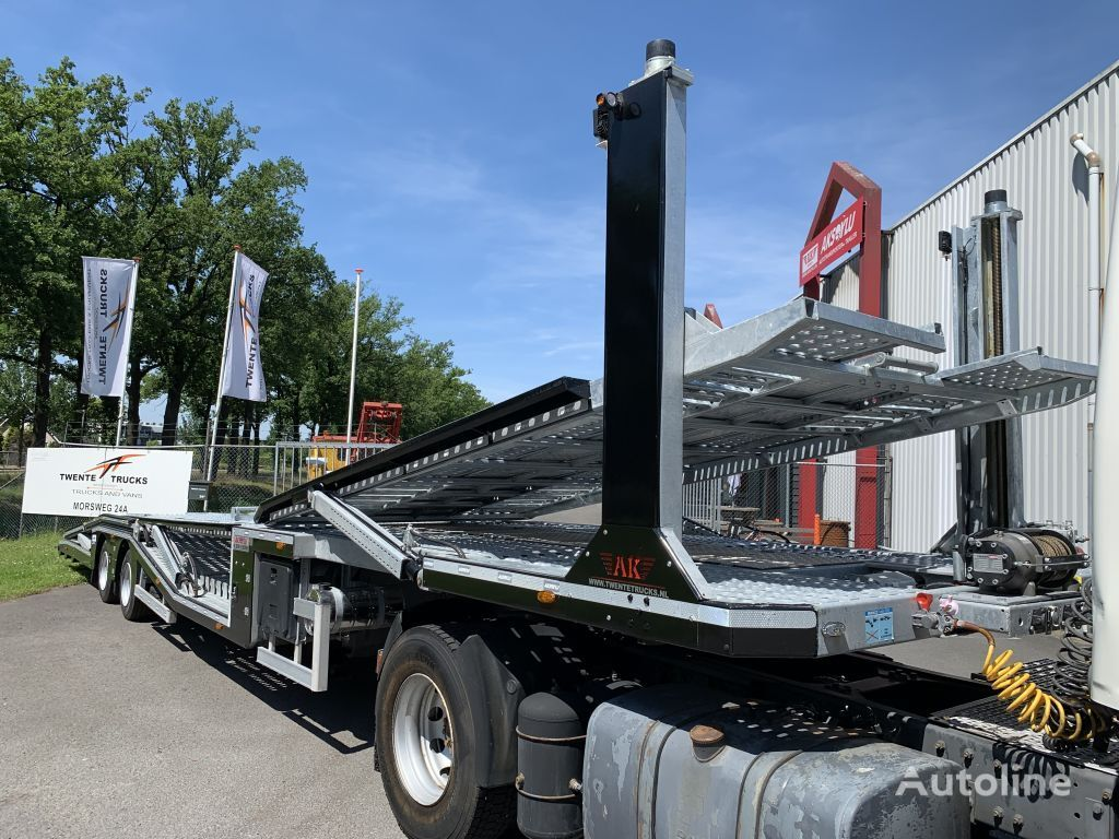Aksoylu autotransporter car transporter 6 car 2 winch semirremolque portacoches