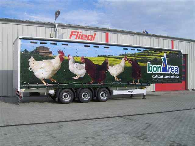 FLIEGL SDS 350 Geflugel semirremolque transporte para aves nuevo