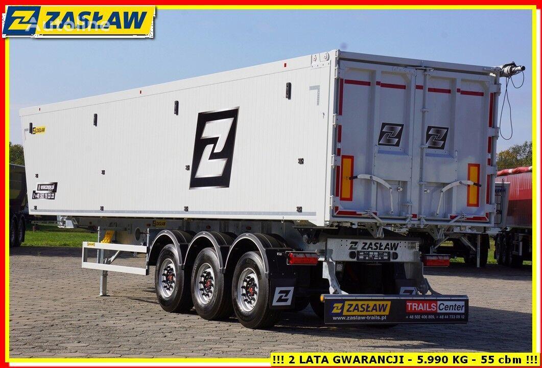 ZASLAW TRAILIS 55 m³ / 6.190 kg LEICHTE Kipper mit AluMulde fur Getreide SOFORT semirremolque volquete nuevo