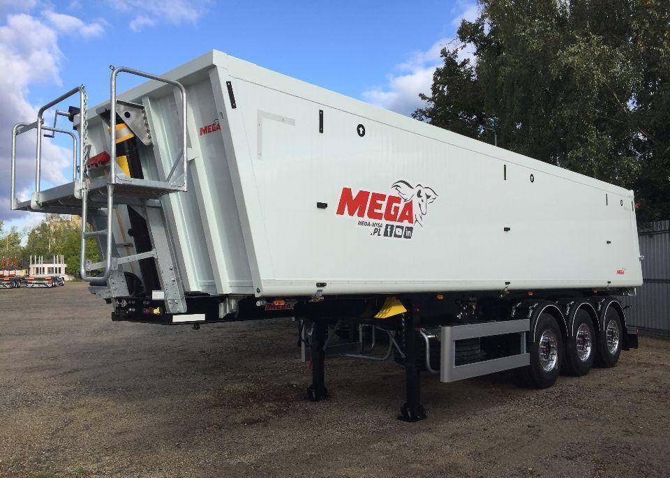 MEGA  35 m3 Naczepa wywrotka aluminiowa klapa z zsypem / do czoła semirremolque volquete nuevo