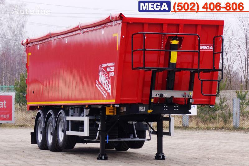 MEGA 45 m³ - alum. tipper SUPER-LIGHT - 5,300 KG & hatch door - READY semirremolque volquete nuevo