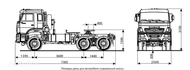KAMAZ 65225 tractora