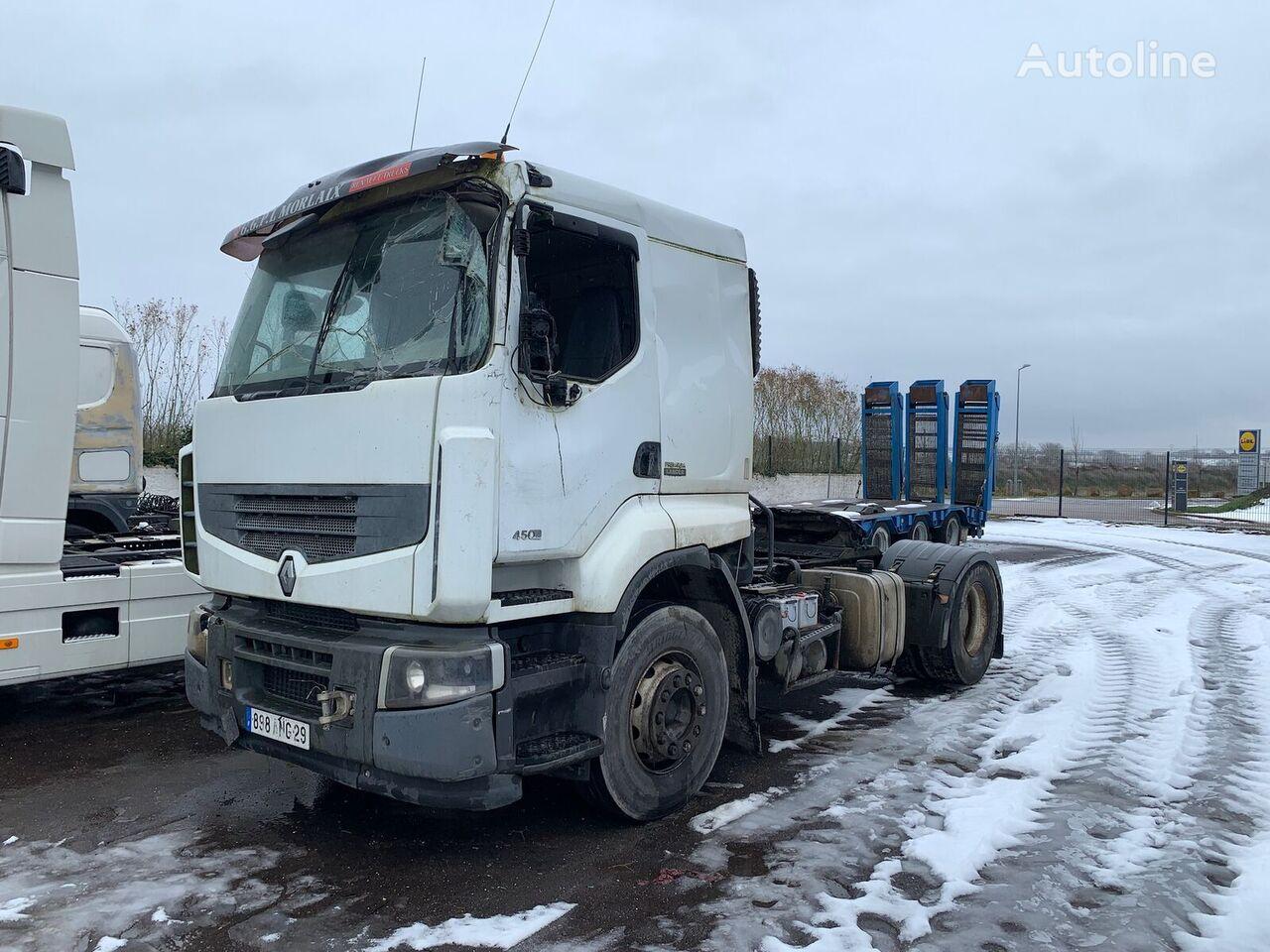 RENAULT LANDER 450DXI HYDRAULIQUE  tractora siniestrada
