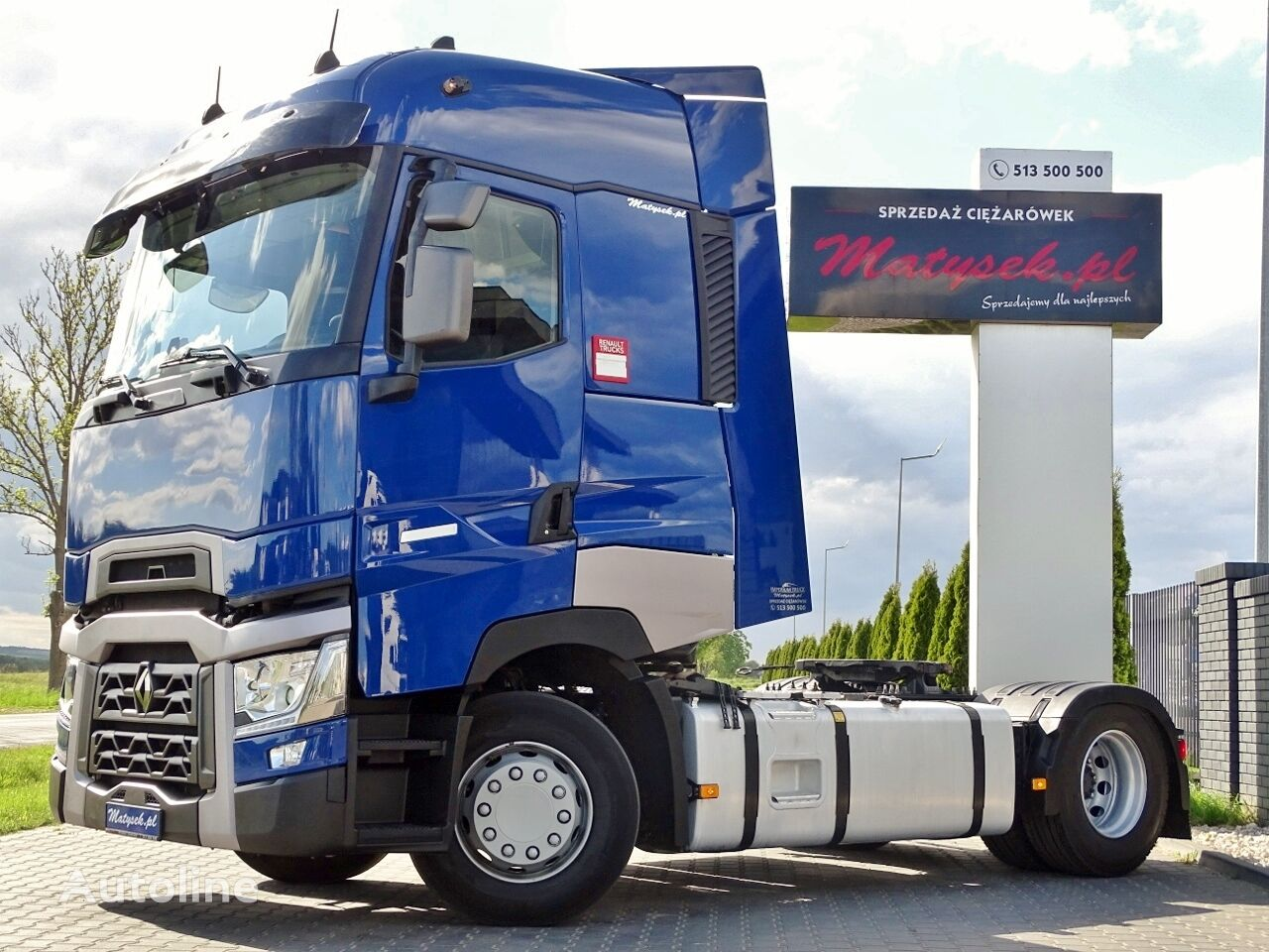 RENAULT T 440 / HIGH SLEEPER CAB / I-COOL / ACC / 13 LITERS / TIRES 100  tractora